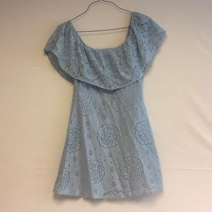 2/$10 Light Blue Off The Shoulder Dress